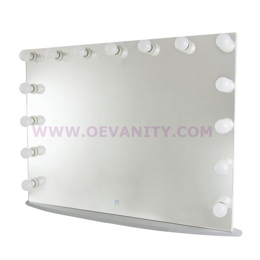 640003 Diamond XL Mirror Finish Hollywood Makeup Mirror Dimmable