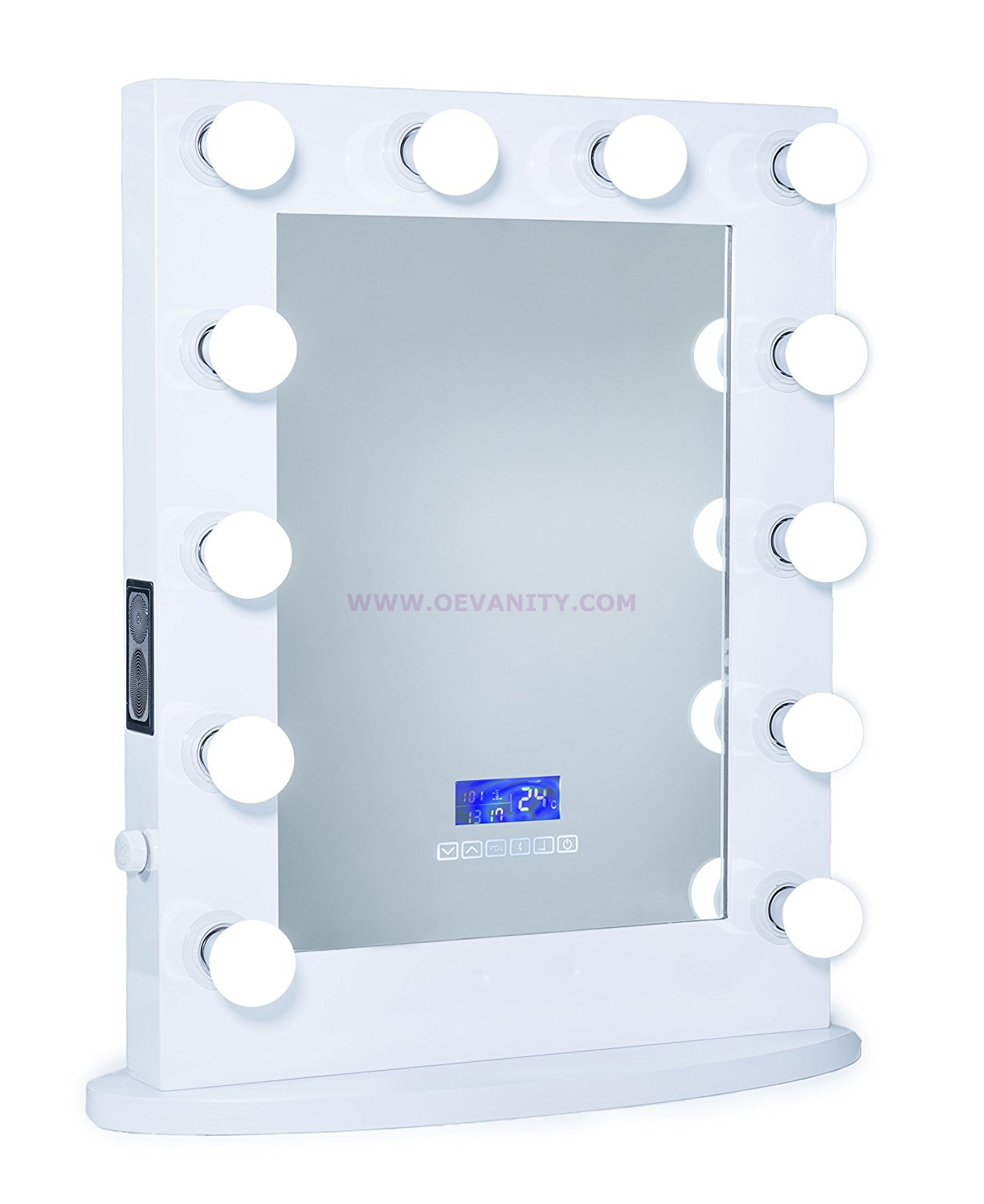 640102 Diamond XL Mirror Finish Hollywood Makeup Mirror Dimmable