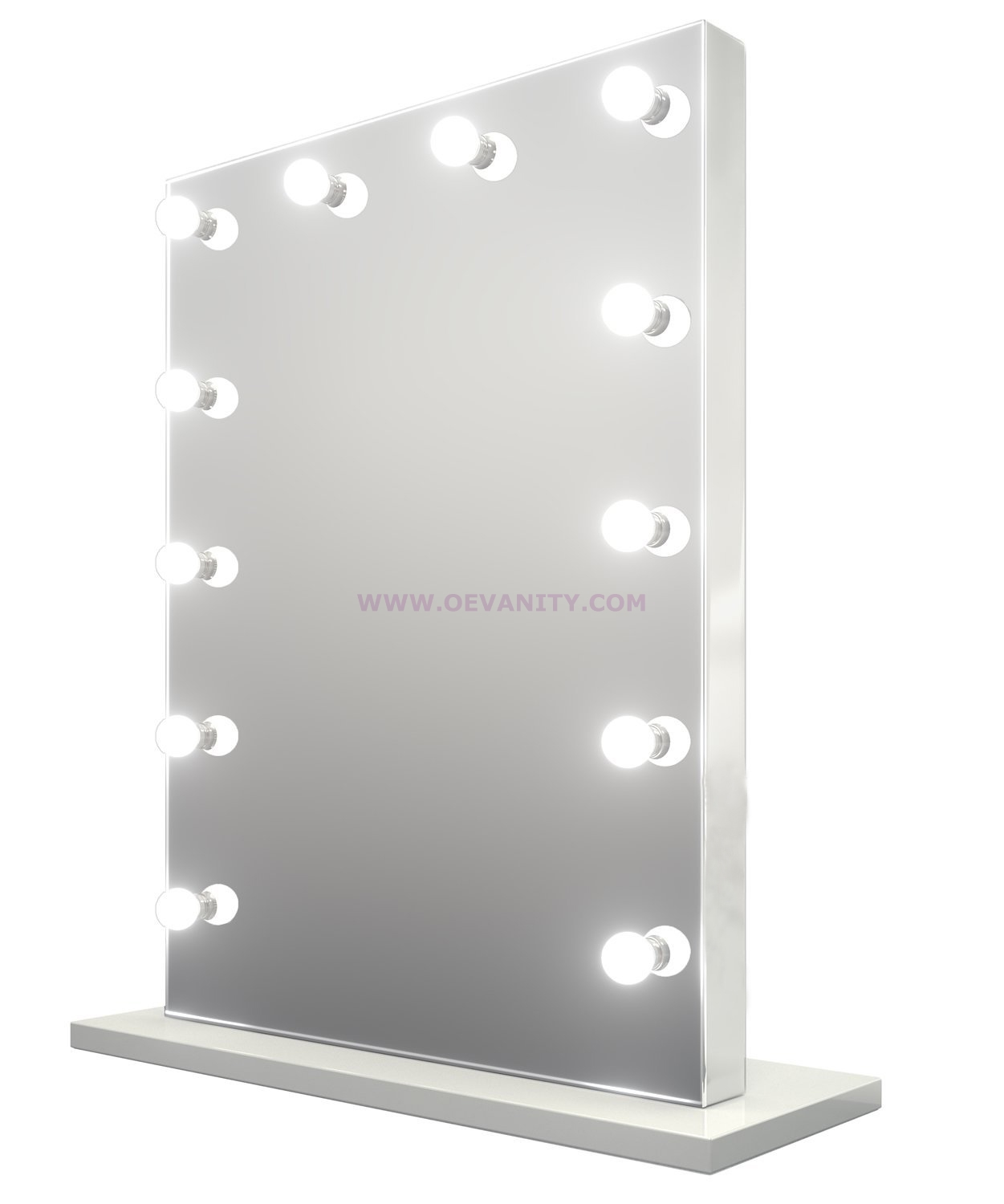 640132 XL Mirror Finish Hollywood Makeup Mirror Dimmable with 1