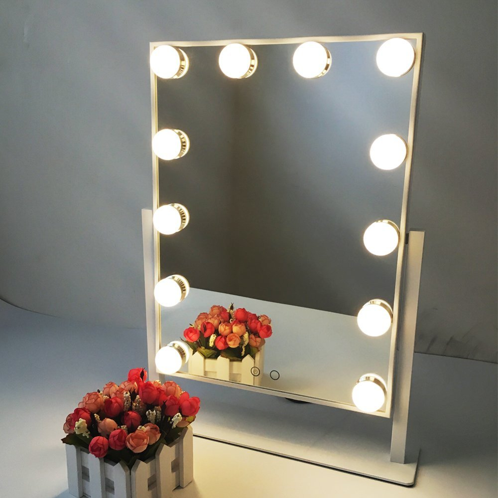 690002 10 leds Lighted Makeup Mirror with touch dimmers