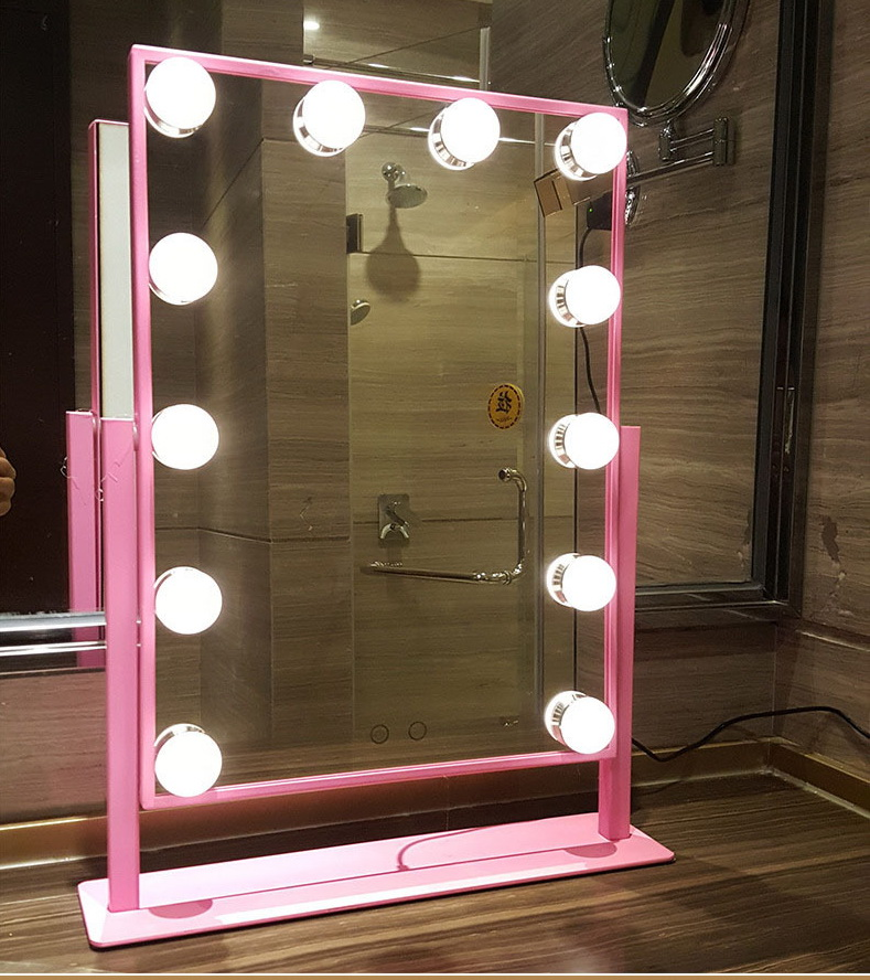 690005 lighted makeup mirrors with touch dimming