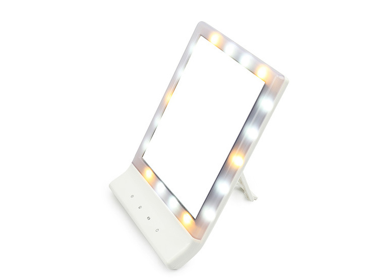 690007 lighted makeup mirrors with touch dimming